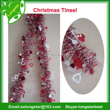 Indoor Colored Christmas Tinsel For Christmas Tree