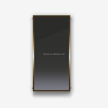 EN standard 8 riser pipe black chrome flat panel solar collector