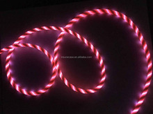 Newest flowing led el glow micro usb charger cable for mobile