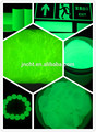 Amarillo-Verde pigmento fotoluminiscente / resplandor en el pigmento oscuro / pigmento amarillo-verde luminoso