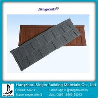 SGB004 Shingle tile European style colorful stone coated metal tile