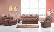 Wood frame Leather sofa 601/furniture