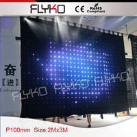 alibaba blue firm video / sexy led video curtain on china market