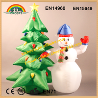 Cheap inflatabel christmas tree and snowman