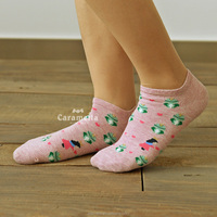 China Wholesale 100% Cotton Boat Socks Cartoon Tube Young Girl Socks