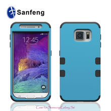 PC Silicone Protective Cell Phone Case for Galaxy S6 with Shockproof Function