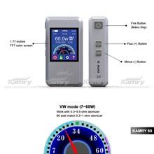 1.77 inches digital display screen kamry 60 2015 e cigarette,7-60 w adjustable wattage