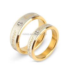 Girls finger rings gold alphabet rings little finger rings