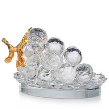 Ca0001 fábrica oem de frutas de vidro cristal cluster uva