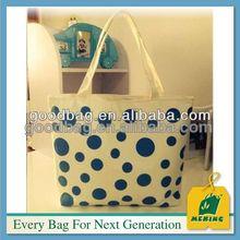 unisex color azul marino de lona de algodón bolso de mano para ir de compras de prendas de vestir