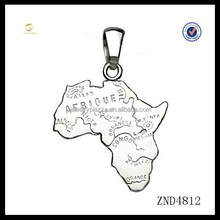 New fashion pure silver jewelry 925 sterling silver africa map necklace pendant