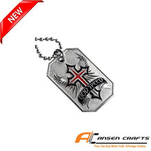 Hot sales new designs of custom stainless dogtag with coloring
