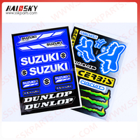 Haissky New Motorcycle Gas Tank Sticker for Suzuki GSX-R 600 750 1000 1100
