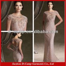 Me-212 ilusão decote elegante mãe da noiva vestidos de renda mãe do vintage dos vestidos de noiva 2015