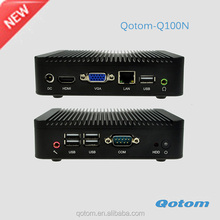 Hottest new type of mini pc in the market very samll linux computer thin client x86 Qotom-Q100N