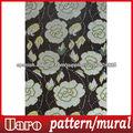 patrón de flores de cristal blanco y negro del mosaico