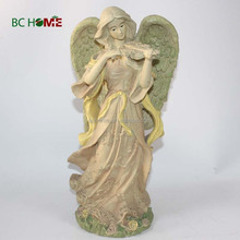 beautiful flying resin guardian angel figurine