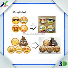 2015 Popular Customized PVC Emoji Halloween Mask, Party Face Emoji Mask