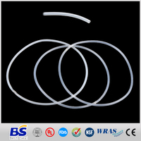 Hollow rubber o ring for sport light silicone clear red black