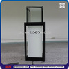 TSD-W540 free standing glass display cabinets,wood retail glass display case,manufacture of showcase for jewelry shop
