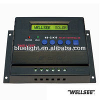 WELLSEE solar charge controller WS-C2430 10A20A30A40A50A60A 12V/24V48V pv panel controller