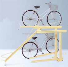 free-stand knocked-down design double deck bicycle rack
