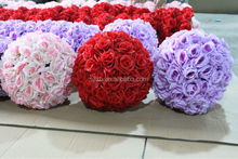 Hot sale artificial rose ball flowers for wedding decoration