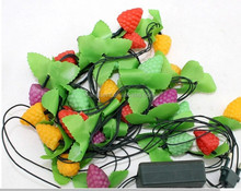 Halloween party decor pumkin Indoor Clear wire Super Bright Yellow led fairy lights string
