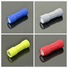 """Manufacture cheap custom AAA battery 3-1/2"""" 9 led rubber torch"""