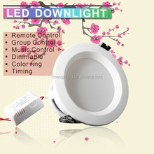 shenzhen intelligent led lighting wifi control led downlight wedge installation