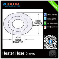 Blue High Temperature Pressure Silicon Heater Hose For oil /gas