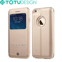 TOTU Brand Hot selling High Quality PU leather Flip Cover case for iphone 6
