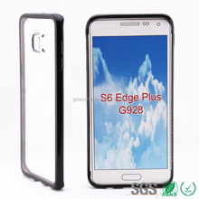 August Newly clear tpu pc case phone cover for Galaxy 6 edge plus G928 protective transparent tpu mobile phone case