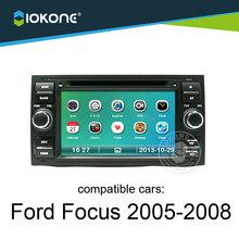 iokone dashboard touch screen car radio dvd multimedia gps for Ford Focus 2005-2008