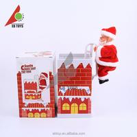 Electric climb the chimney children doll Santa Claus musical santa claus for children