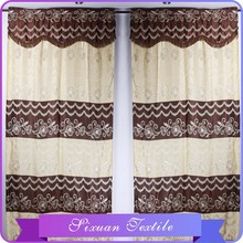 Classical Lace Valanced Jacquard Curtain To South America