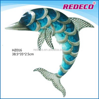 Wholesale metal dolphin wall art nautical decoration