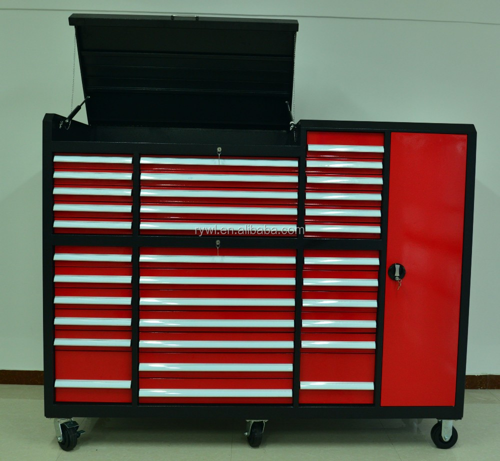 Rywl Steel New Design Cheap Steel Tool Box Red Garage Tool