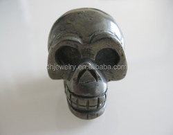 100% natural mineral crystal pyrite rock carved skull for healing