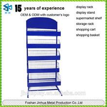 Blue metal flower pot stand/restaurant spice rack/chocolate standing storage shelving