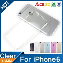 (Acego) 0.3mm 2015 transparent soft tpu case for iphone 6 silicone case