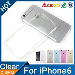 Buy 200 get 50 free transparent soft tpu case for iphone 6 silicone case