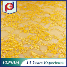 Best selling african chemical embroidery flower lace fabric