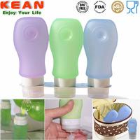 china manufacturer reusable portable silicone travel bottle/Empty Deodorant Bottles Free BPA