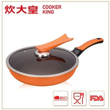 28CM Korean non stick frying pan with star printed interior