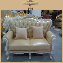 Classic wood frame leather sofa,timber frame leather sofa,used leather sofa