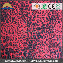 2015 calcados com animal print fashion hair flocking leather raw material for shoe,hangbag, watch, wallet