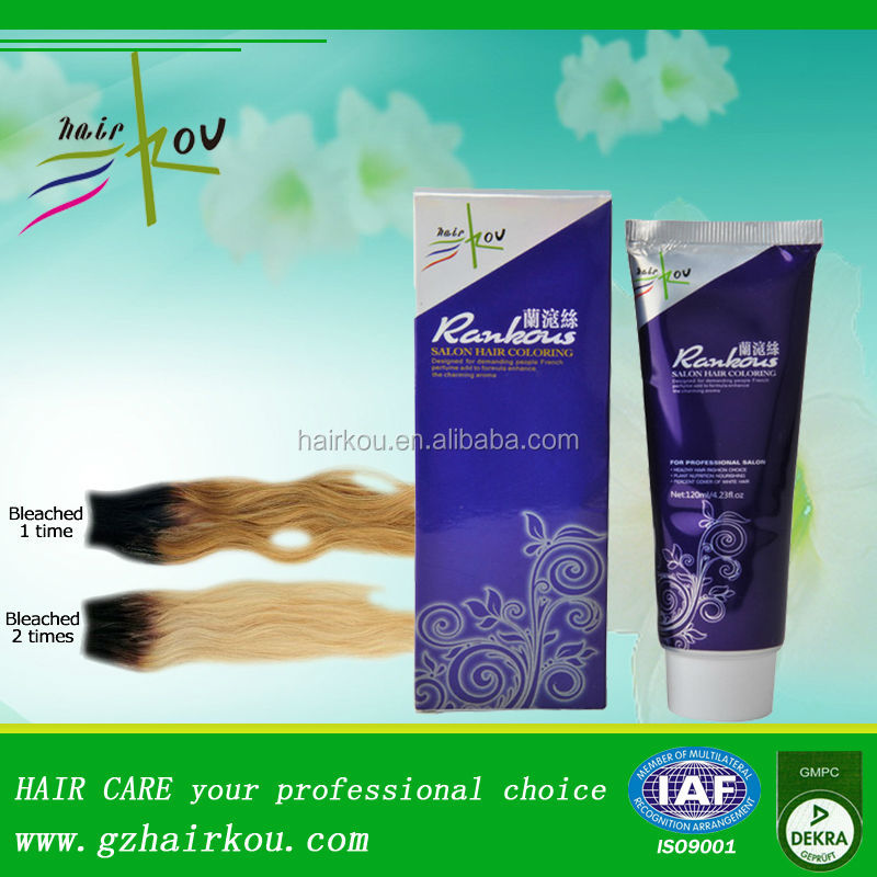 Oem Fade Color Hair Bleach Cream With Temporary Hair Dying Hair