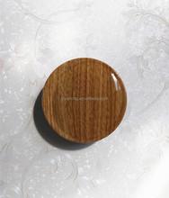 ES0300 Woodern pattern powder case packaging with mirror