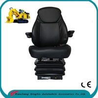 China factory price deluxe vinyl cover high back full adjustable suspension seat for mining equipment(YS15)